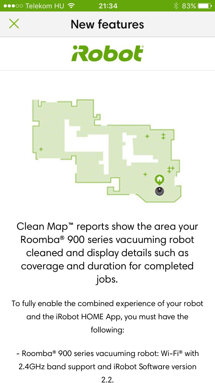 iRobot Roomba térkép