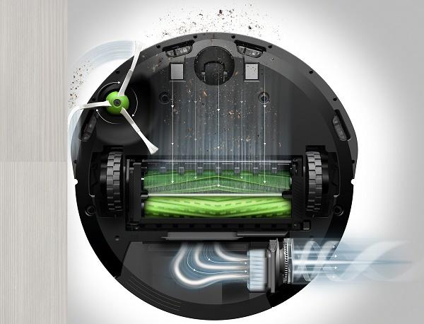 Roomba i7 robotporszívó alja
